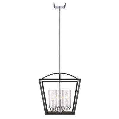 Mercer 3-Light Black Pendant