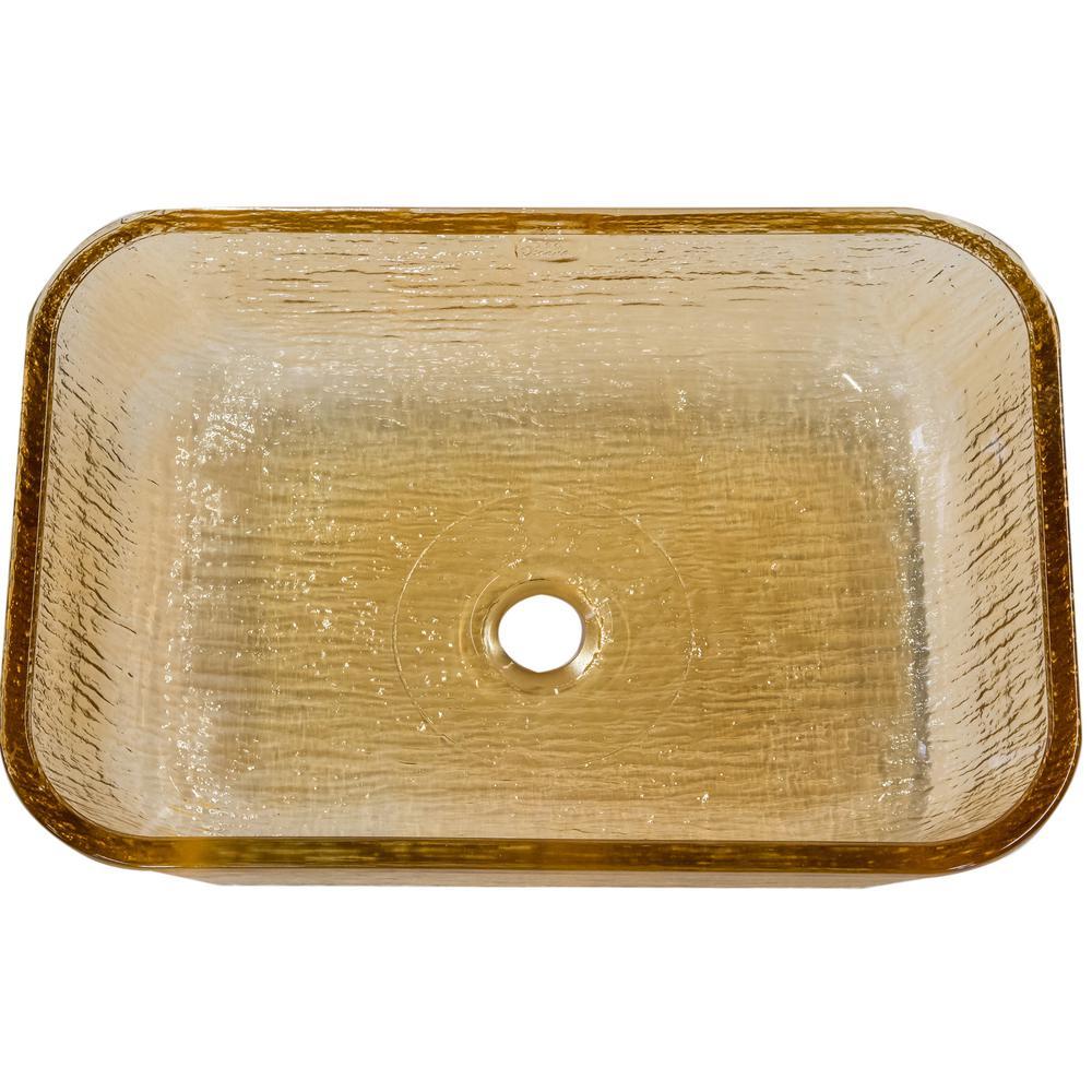 Oasis Vessel Bathroom Sink in Champagne Gold