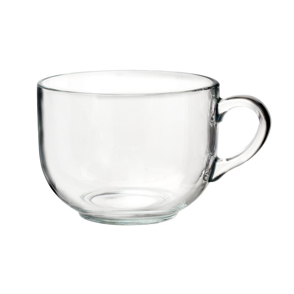 Tazotta 22 oz. Clear Glass Coffee Mug (Set of 4)