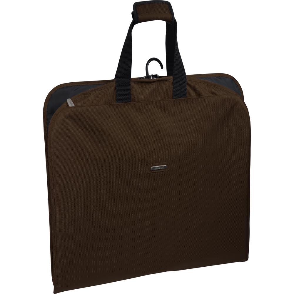 51e34138ab8a WallyBags 45 in. Brown Suit Length Carry-On Slim Garment Bag with ...
