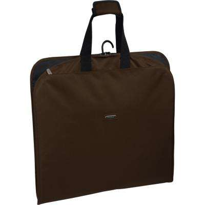 45 in. Brown Suit Length Carry-On Slim Garment Bag with Multiple Pockets