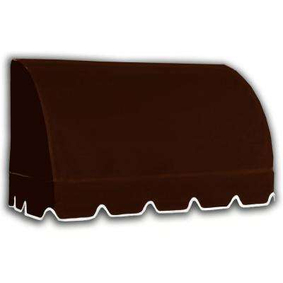 3.38 ft. Wide Savannah Window/Entry Awning (31 in. H x 24 in. D) Brown