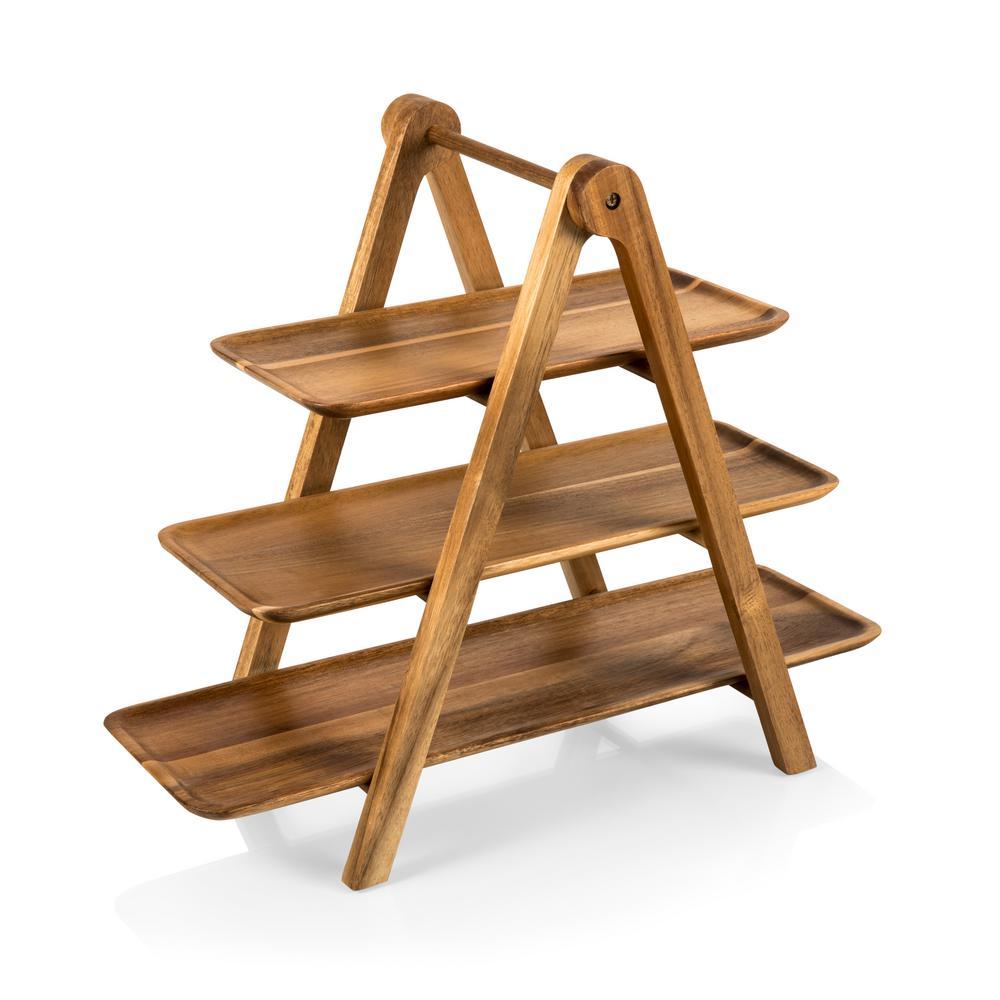 Serving Ladder Acacia 3-Tiered Serving Station Set