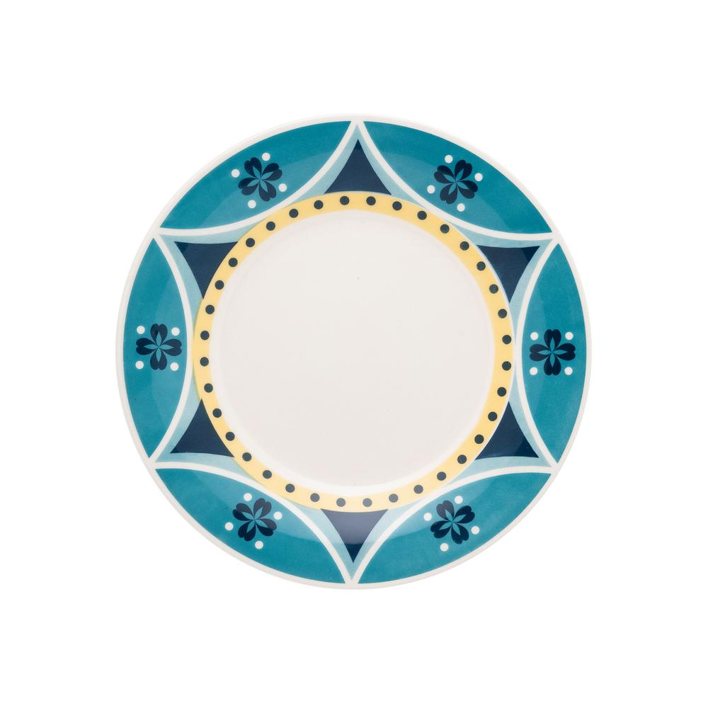 Manhattan Comfort 7.48 in. Actual Yellow and Blue Salad Plates (Set of 6) was $59.99 now $28.23 (53.0% off)
