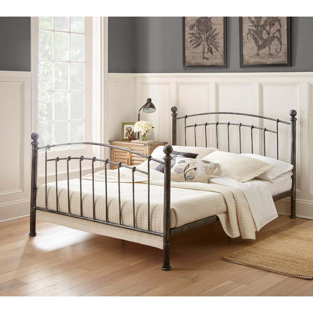 Rest Rite Gia Antique Copper Chrome Queen Platform Bed