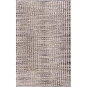 Bleached Naturals Bleach Beige / Ivory Gray 5 ft. x 7 ft. 9 in. Coffee Latte Striped Area Rug