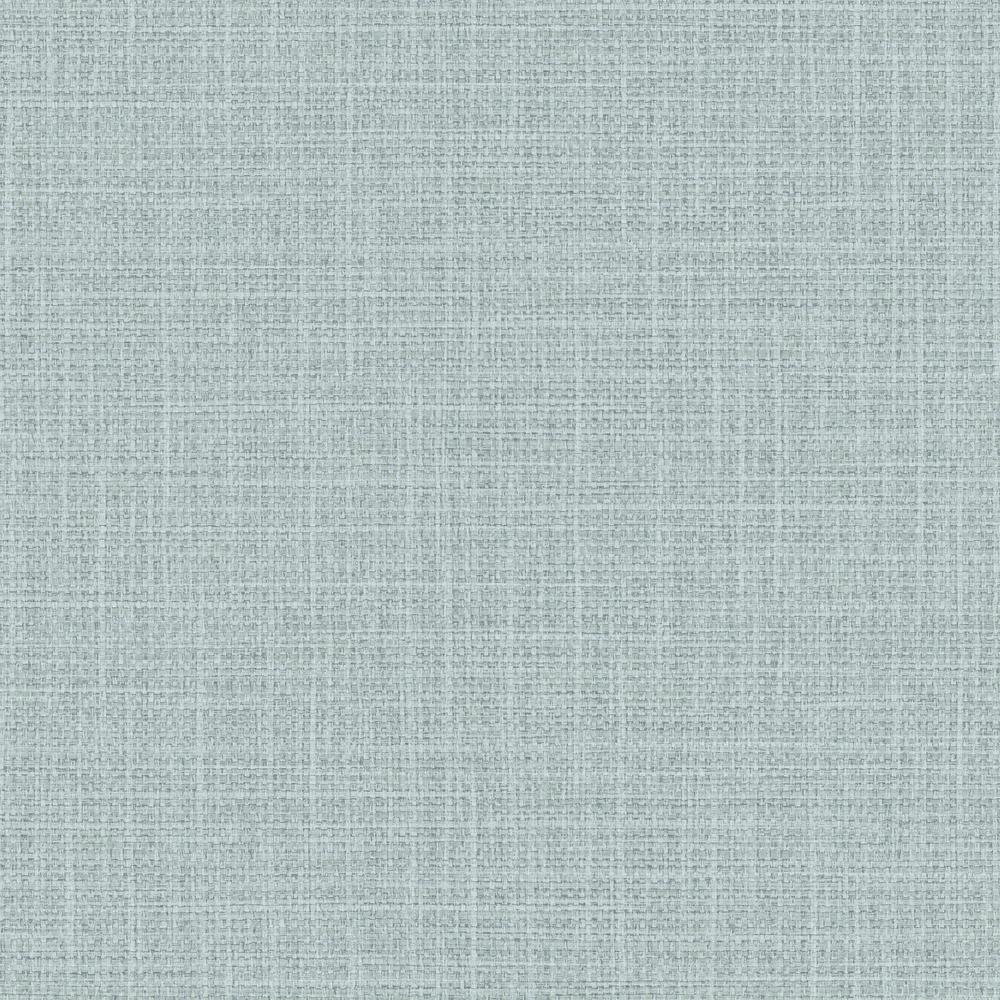 Woven Raffia Sea Mist Shimmer Moonlight Embossed Vinyl Wallpaper