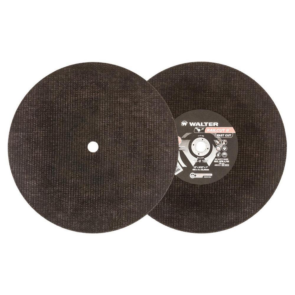 RAILCUT II Fast Cut 16 in. x1 in. Arbor x 5/32 in. GR A24RAIL Rail Cutting Disc (10-Pack)