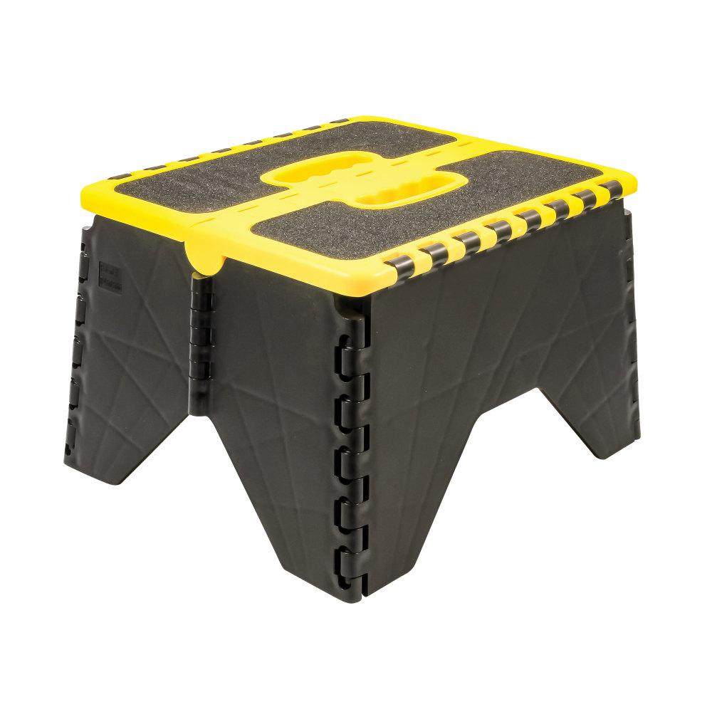 Camco Plastic Folding Step Stool With Non Skid Black