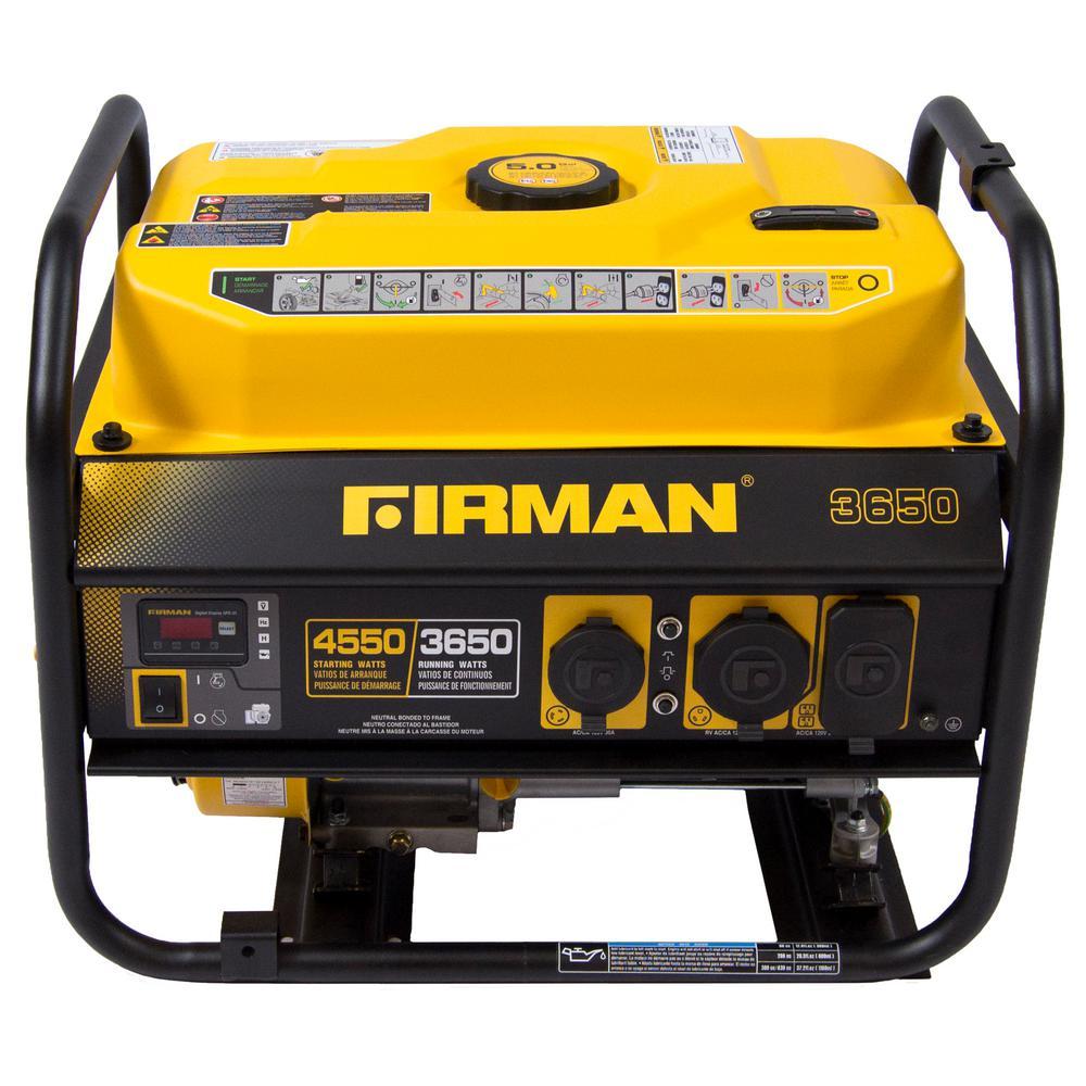Firman Power Equipment PO3607 Gas Powered 4550/3650-Watt Extended Run Time... by Firman
