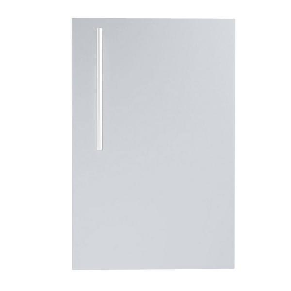 Designer Series Raised Style 15 in. 304 Stainless Steel Single Access Door with Shelf