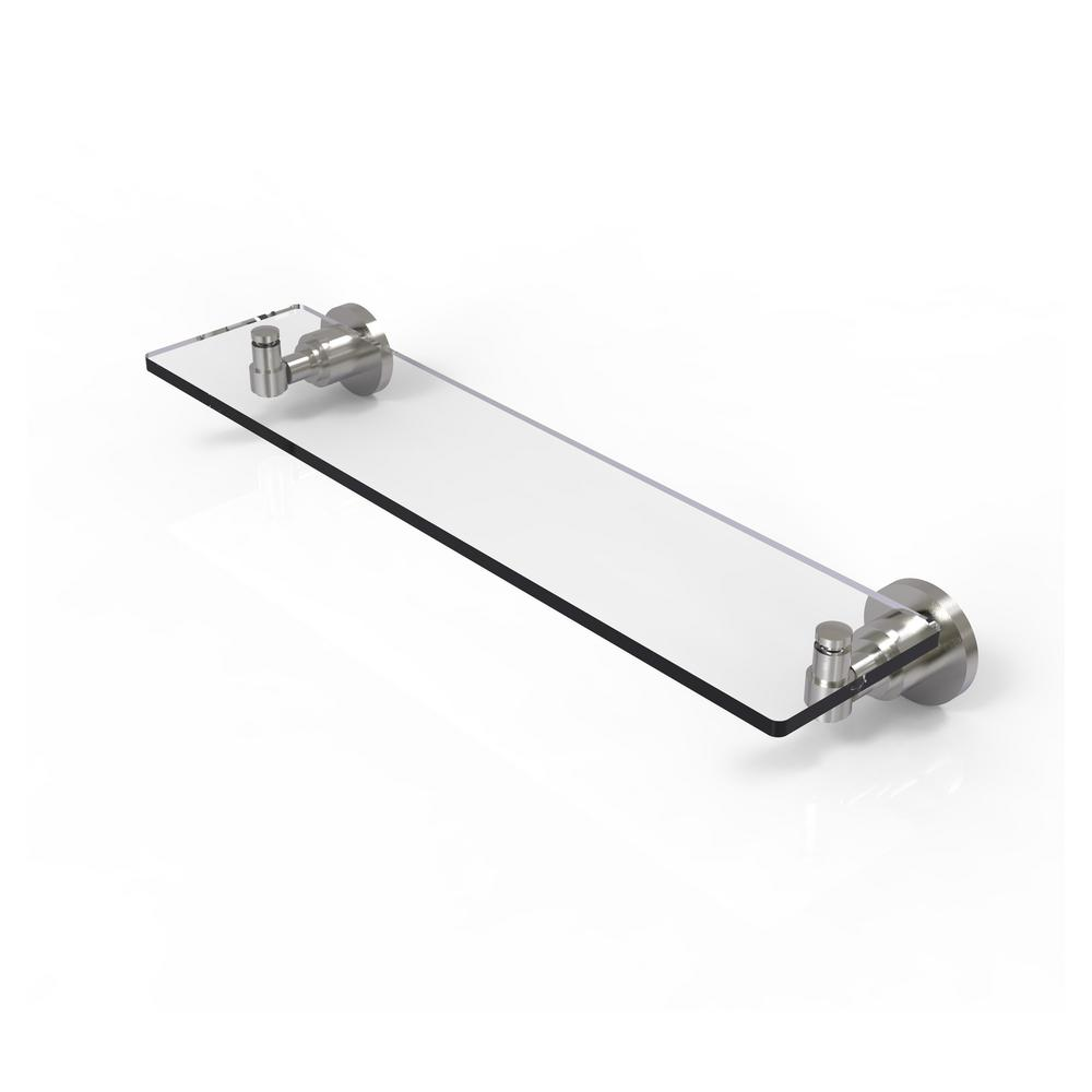 Allied Brass Washing Square Collection 22 in. Glass Vanity Shelf ...