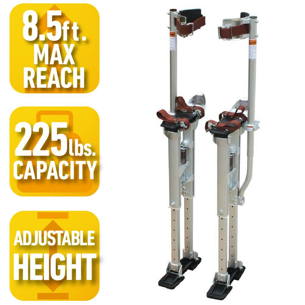 18 in. to 30 in. Adjustable Height Drywall Stilts