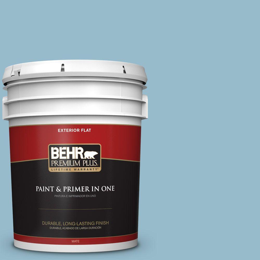 BEHR Premium Plus 5-gal. #S480-3 Sydney Harbour Flat Exterior Paint