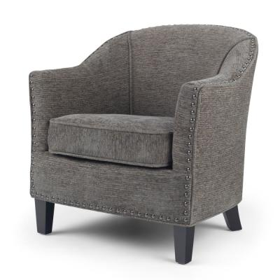 Kildare 29 in. Wide Transitional Tub Chair in Grey Tweed Fabric