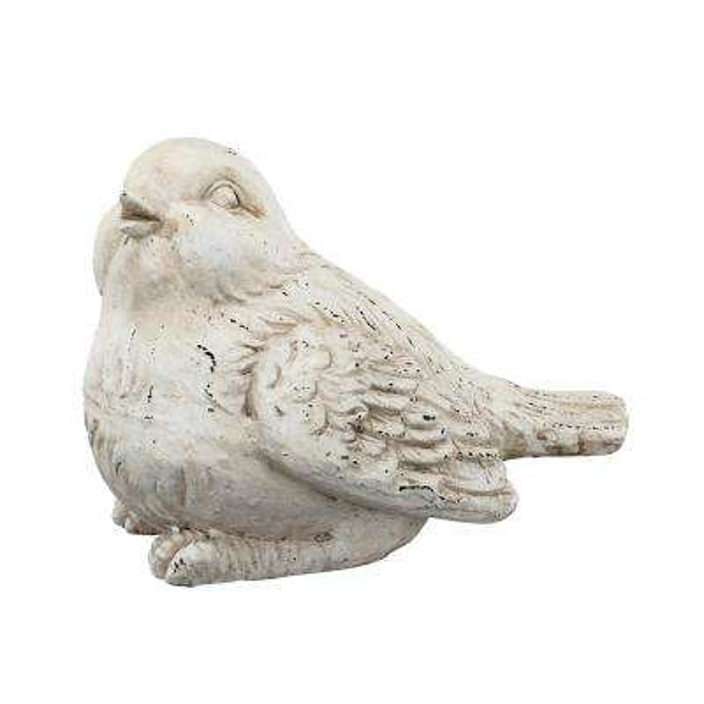 White Large Bird Figurine