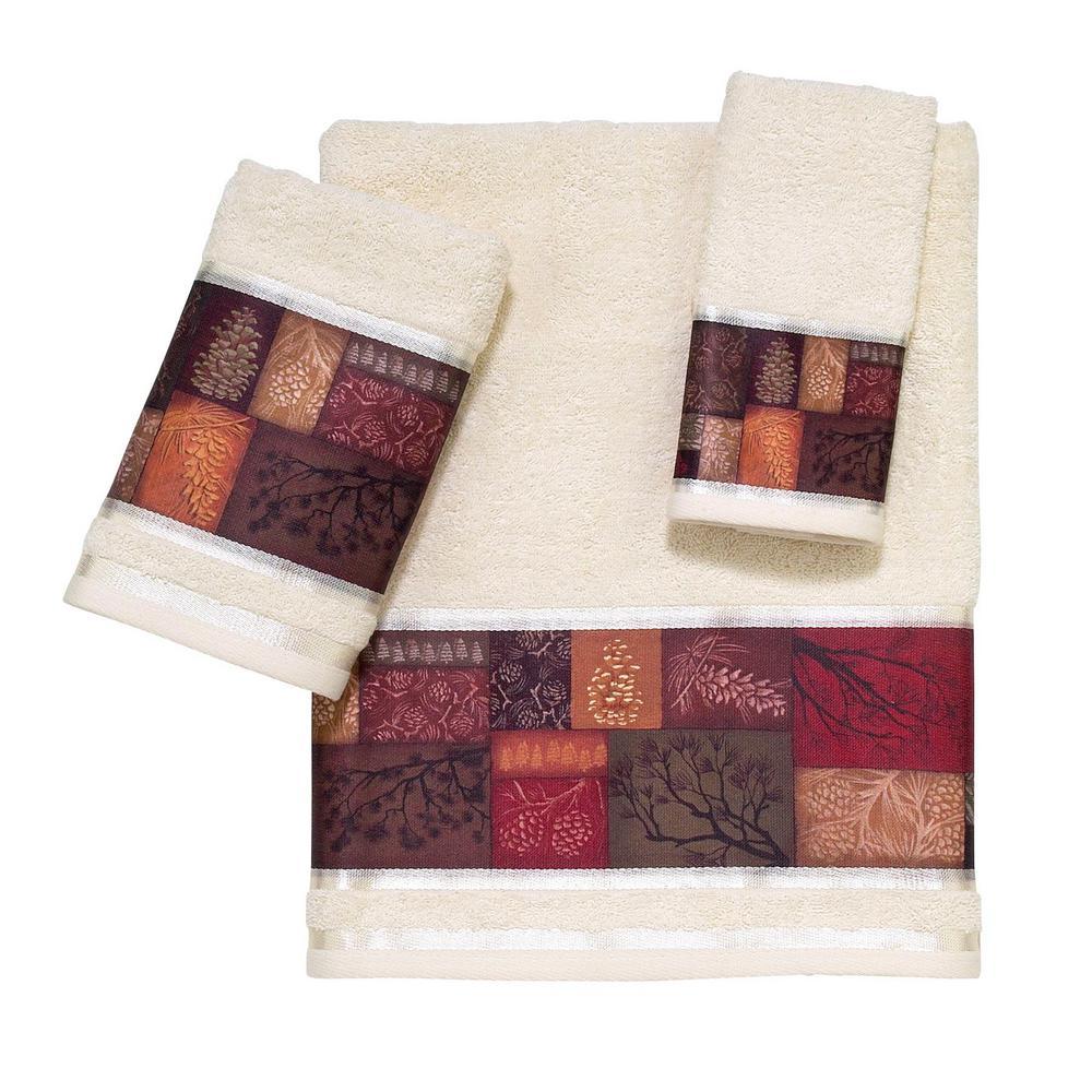 Adirondack Pine 3-Piece Towel Set in Beige