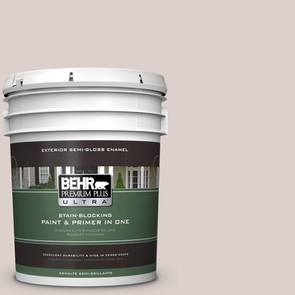 BEHR Premium Plus Ultra 5-gal. #N130-1 Pearls and Lace Semi-Gloss Enamel Exterior Paint