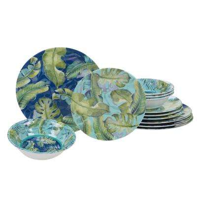 Tropicana 12-Piece Multicolor Dinnerware Set