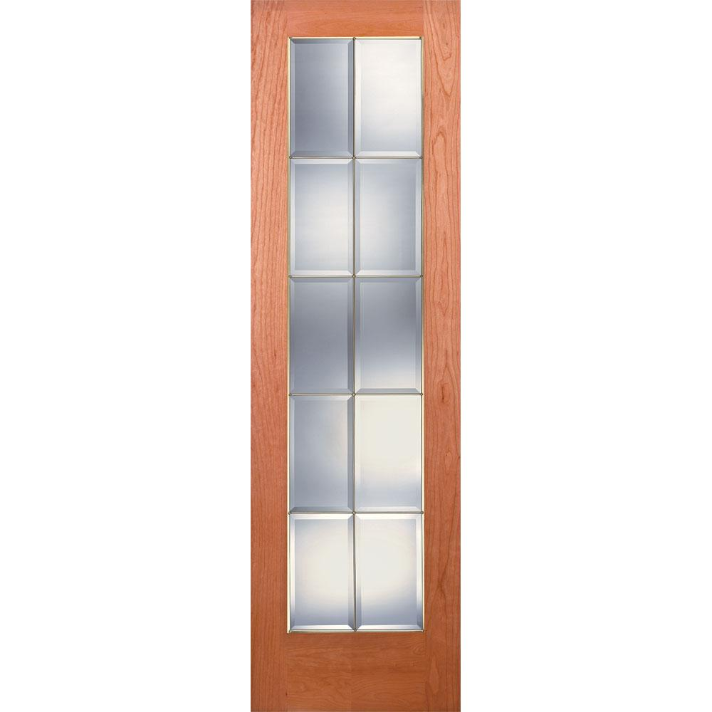 Merveilleux Feather River Doors 24 In. X 80 In. 10 Lite Unfinished Cherry Clear Bevel