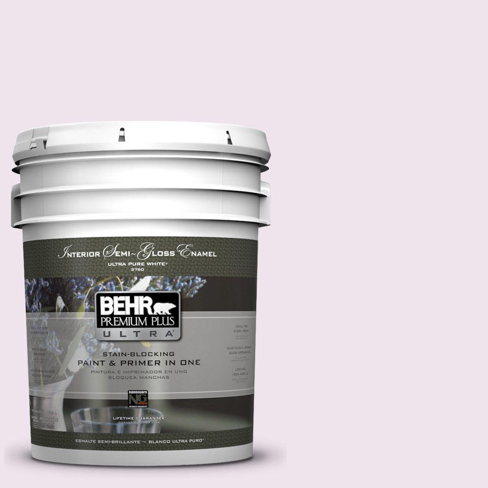 BEHR Premium Plus Ultra 5-gal. #670C-1 November Pink Semi-Gloss Enamel Interior Paint