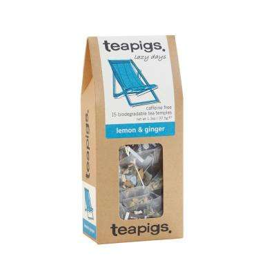 Lemon and Ginger 15 Tea Bags Temples (6-Boxes)