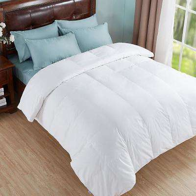 All Season White King Down and Feather Blend Comforter
