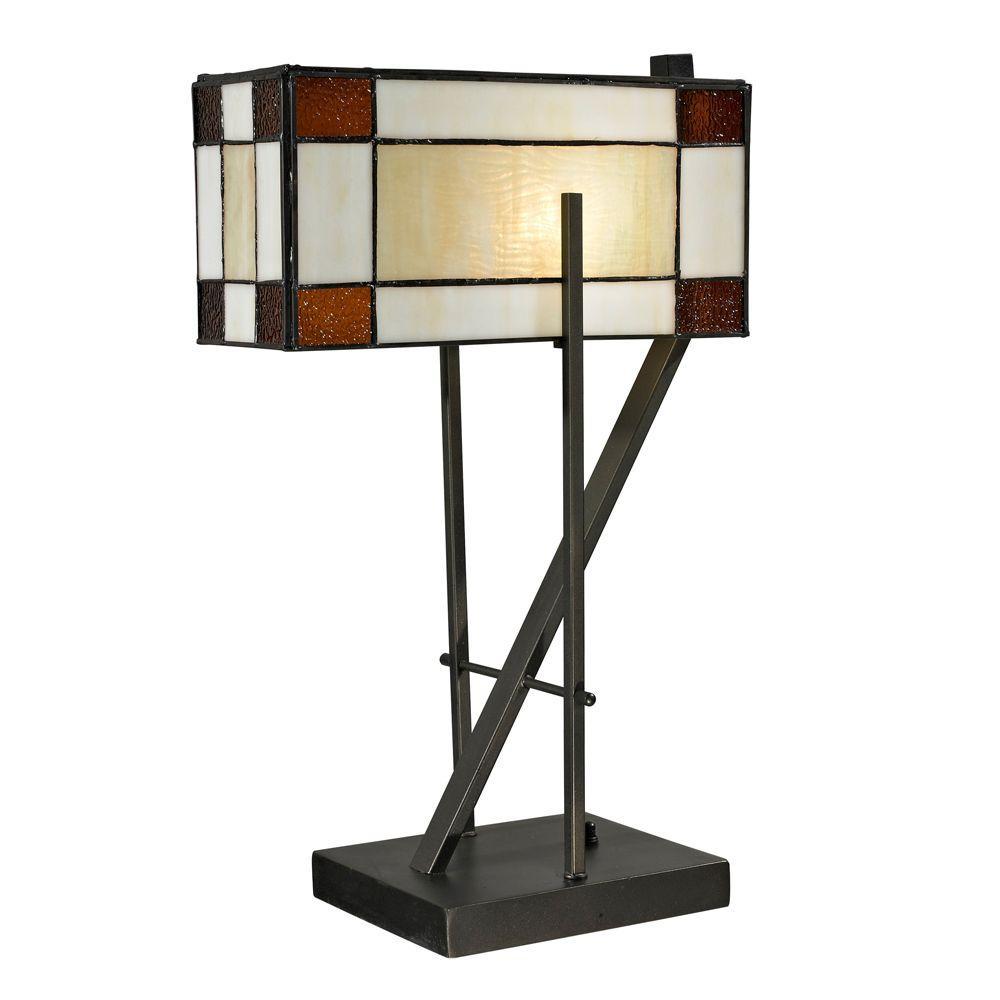 20 in. Diamond Hill Dark Bronze Table Lamp