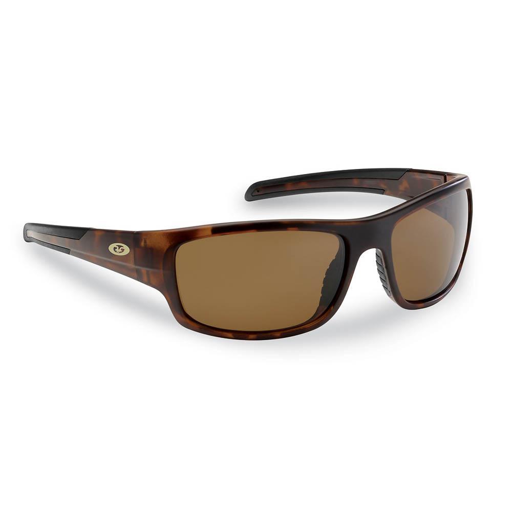 25acdbe79d Flying Fisherman Shoal Polarized Sunglasses Matte Tortoise Frame with Amber  Lens