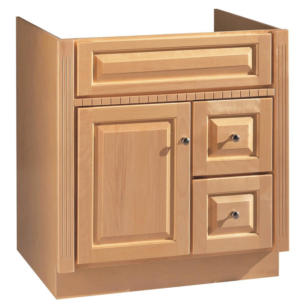 Hardware House 30 In W X 21 In D Vanity Only In Maplewood Finish 16600371 The Home Depot