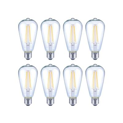 40-Watt Equivalent ST19 Antique Edison Dimmable Clear Glass Filament Vintage Style LED Light Bulb Soft White (8-Pack)