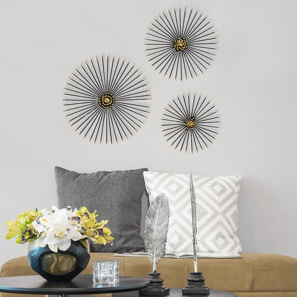 trio starburst wall decor s07674 the home depot. Black Bedroom Furniture Sets. Home Design Ideas