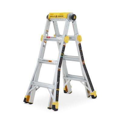 15 ft. Reach MPXT Aluminum Multi-Position Ladder with Project Top, 375 lbs. Load Capacity Type IAA Duty Rating