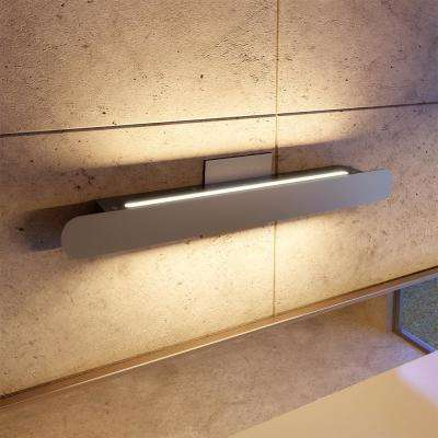 Scheddi Collection 22 in. Silver LED Modern Bath Light