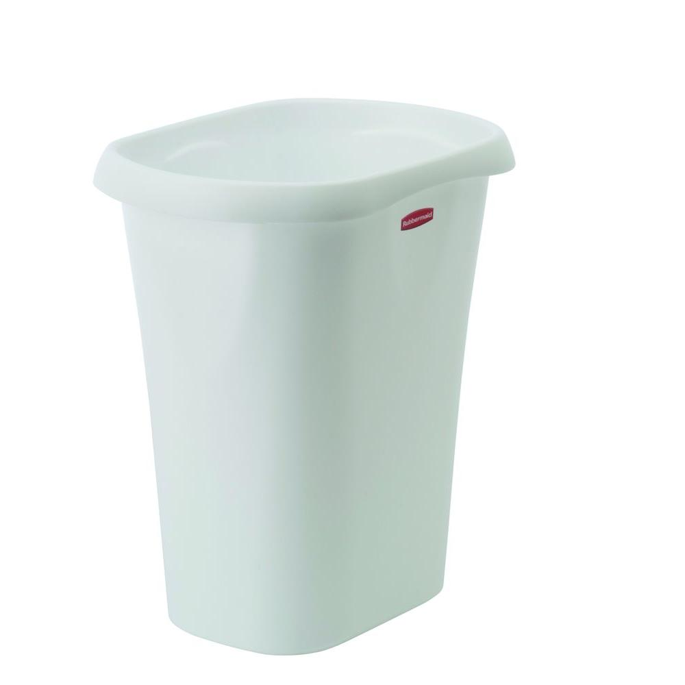 Rubbermaid 12 Qt White Trash Can