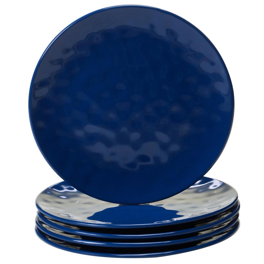 Cobalt 6-Piece Blue Salad Plate Set