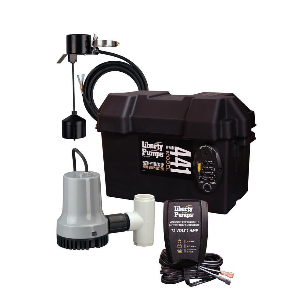 Battery Back Up Sump Systems Sump Pumps The Home Depot