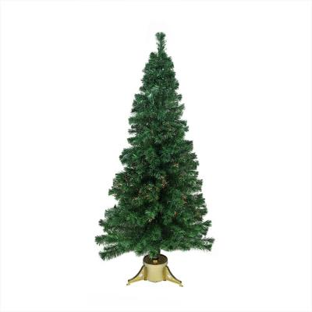 7 ft. Pre-Lit Color Changing Fiber Optic Artificial Christmas Tree