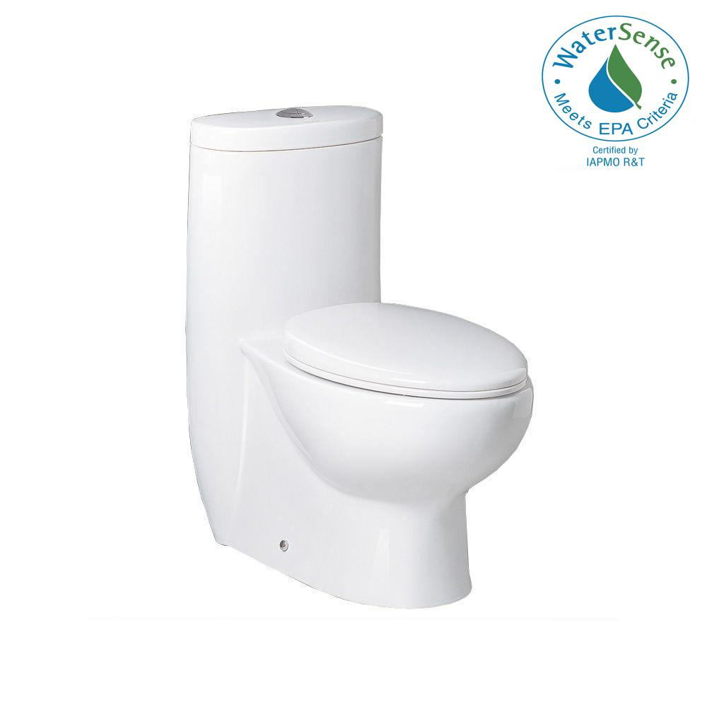 Ariel Platinum 1 Piece 6 Gpf Dual Flush Elongated Toile