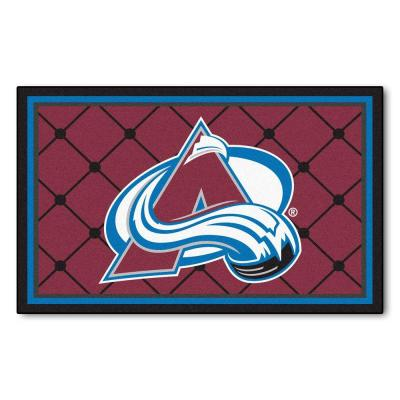 Colorado Avalanche 4 ft. x 6 ft. Area Rug