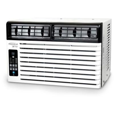 ENERGY STAR 6,400 BTU Window-Mounted Air Conditioner with LCD Remote Control in White