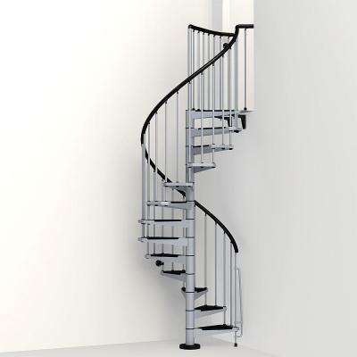 Civik 47 in. Grey Spiral Staircase Kit