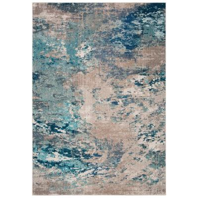 Madison Blue/Gray 3 ft. x 5 ft. Area Rug