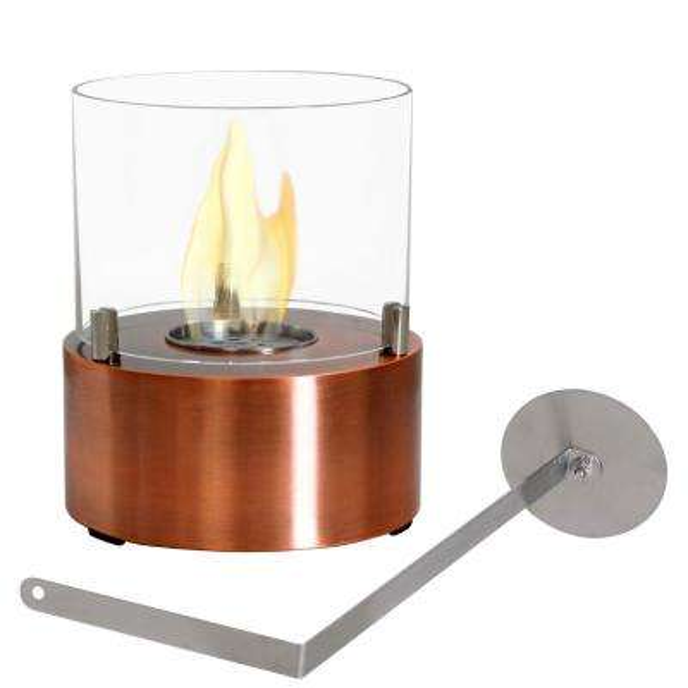 Tre Poli 7 in. Tabletop Bio-Ethanol Fireplace in Copper