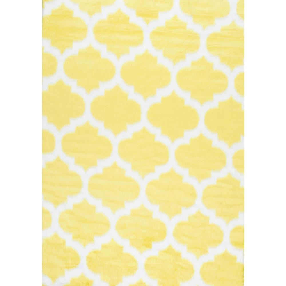 nuLOOM Faux Sheepskin Shaunna Yellow 7 ft. x 9 ft. Area Rug