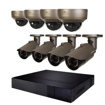 16-Channel 4K 2TB NVR Video Surveillance System with 4-Varifocal 4MP Bullet Cameras and Dome Cameras