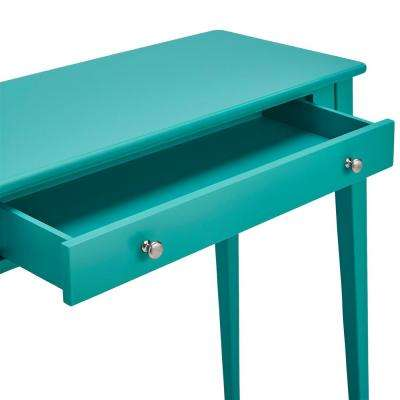 Marine Green Console Table