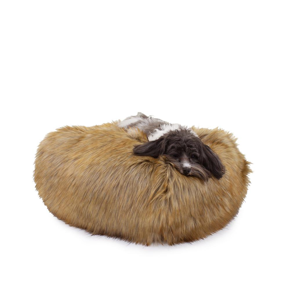 Carolina Pet Company Medium Ombre Faux Fur Puff Ball