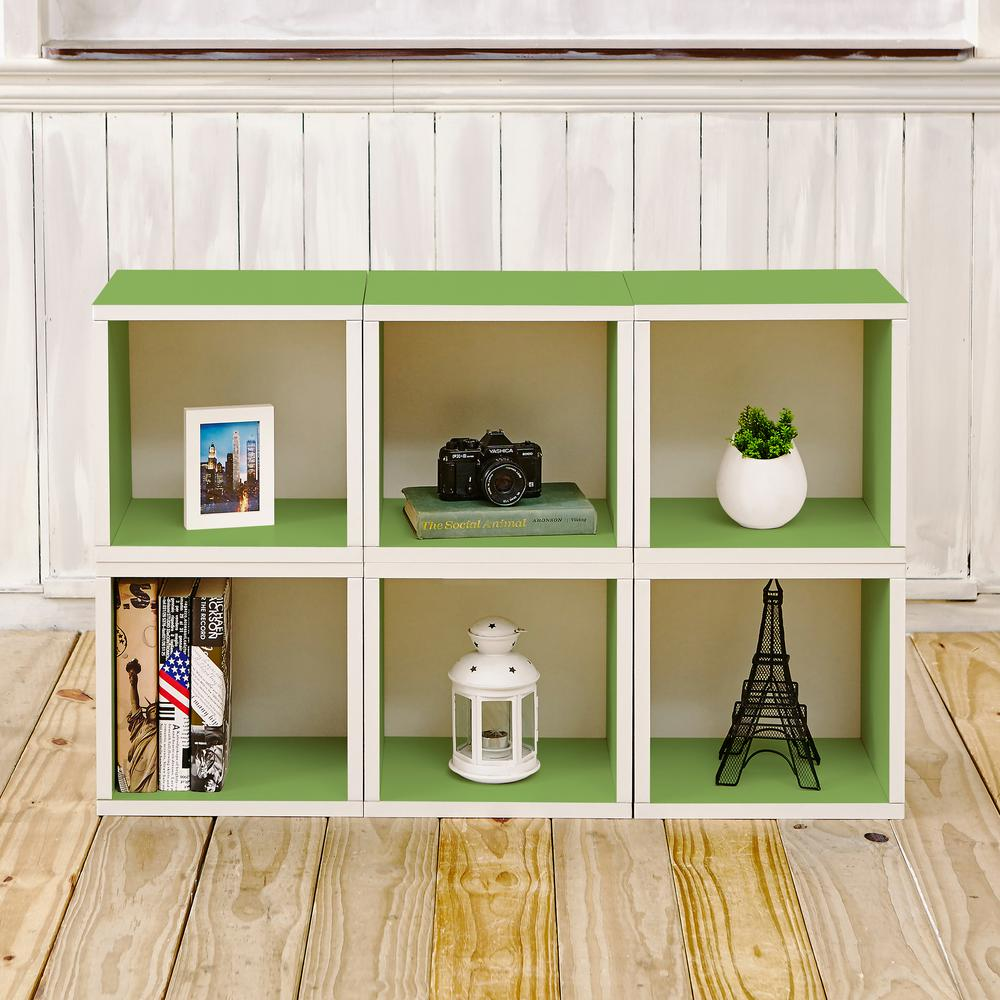 Barcelona 40.2 in.x25.6 in. 6-Cubes zBoard Stackable Modular Storage Cubby