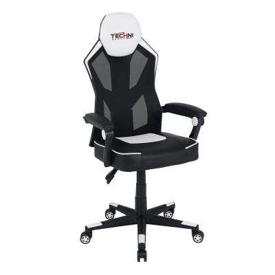 TS-30 Ergonomic High Back Racer Style Video Gaming Chair, White
